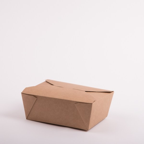 46oz Brown Leakproof Compostable Box