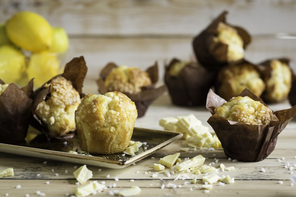KARA Injected Lemon & White Chocolate Tulip Muffins