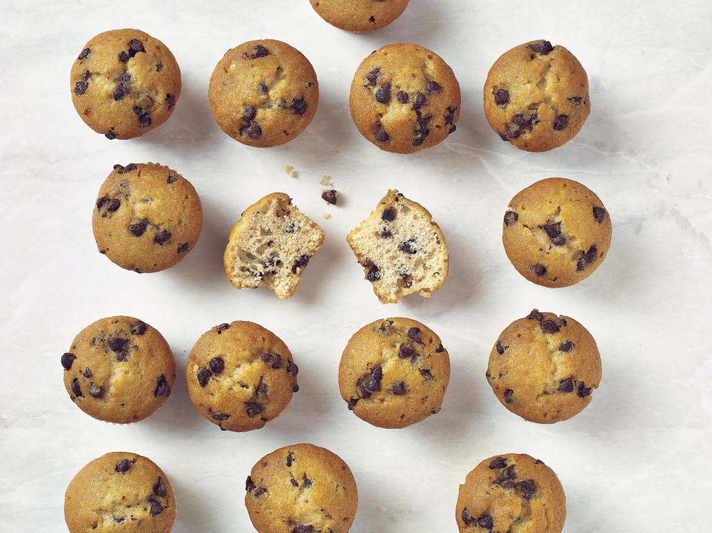 Mini Double Chocolate Chip Muffins