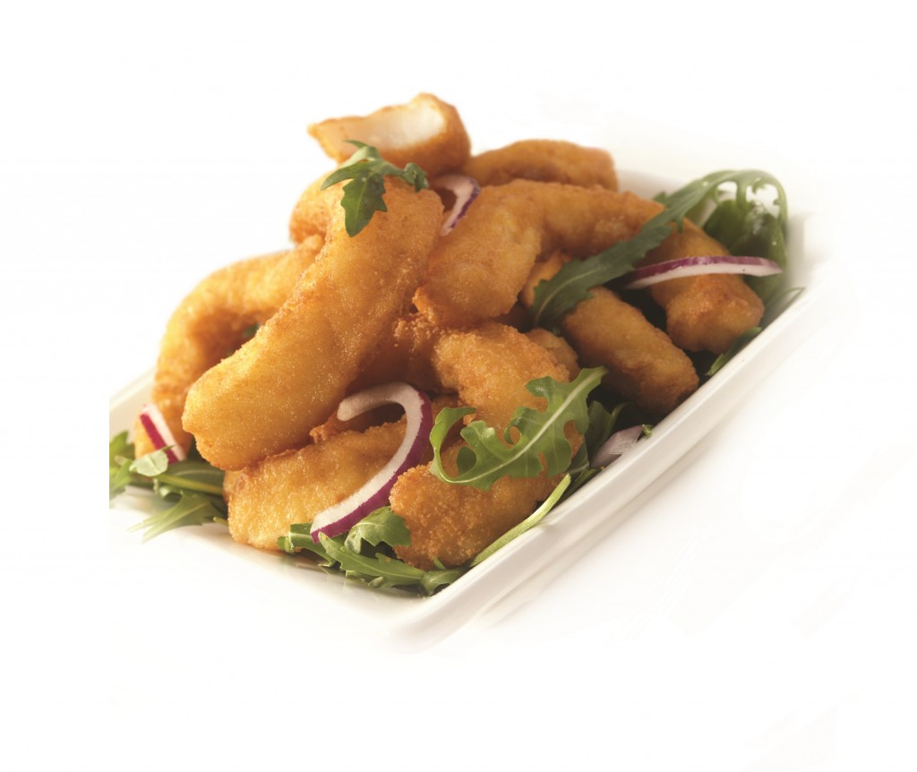 Dusted Squid Strips