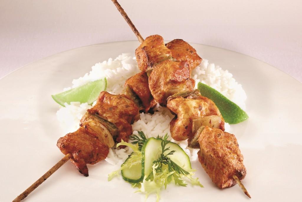 Cooked Chicken Tikka Kebab