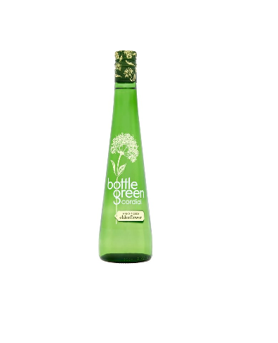 BOTTLE GREEN Elderflower Cordial  (Glass Bottle)