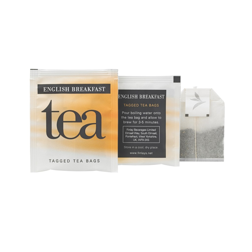 FINLAYS English Breakfast Envelope Tagged Tea Bags