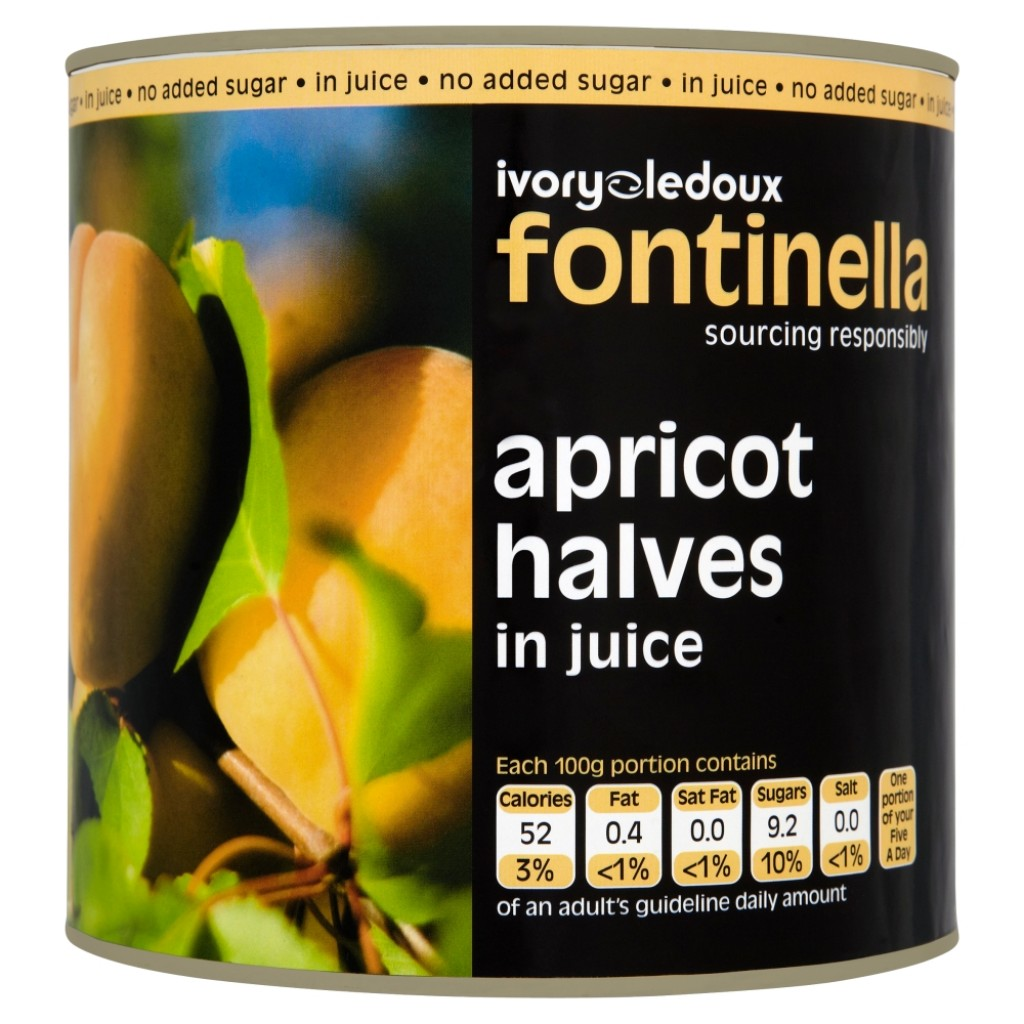 FONTINELLA Apricot Halves in Juice