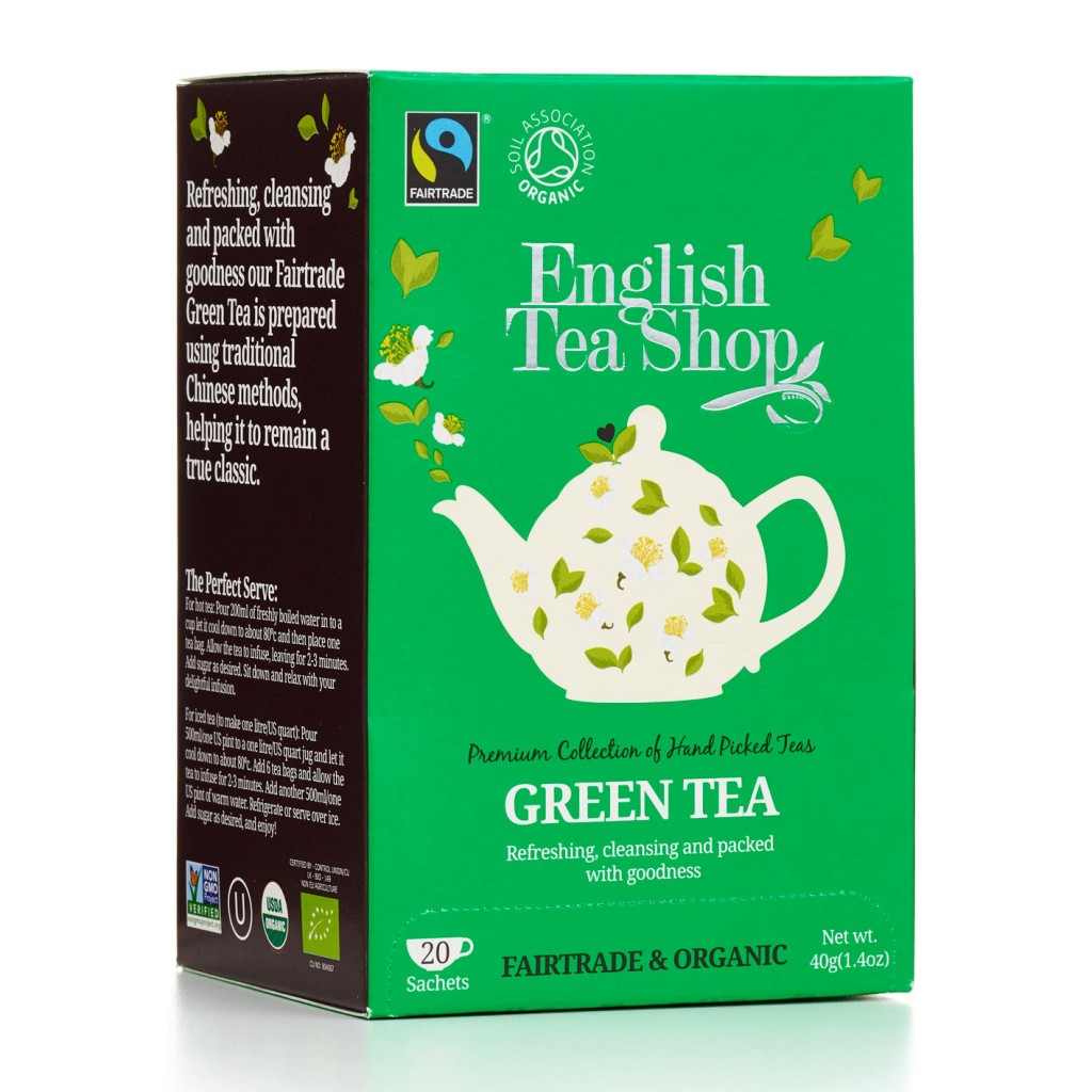 ENGLISH TEA SHOP Green Tea Tag & Envelope Tea Bags