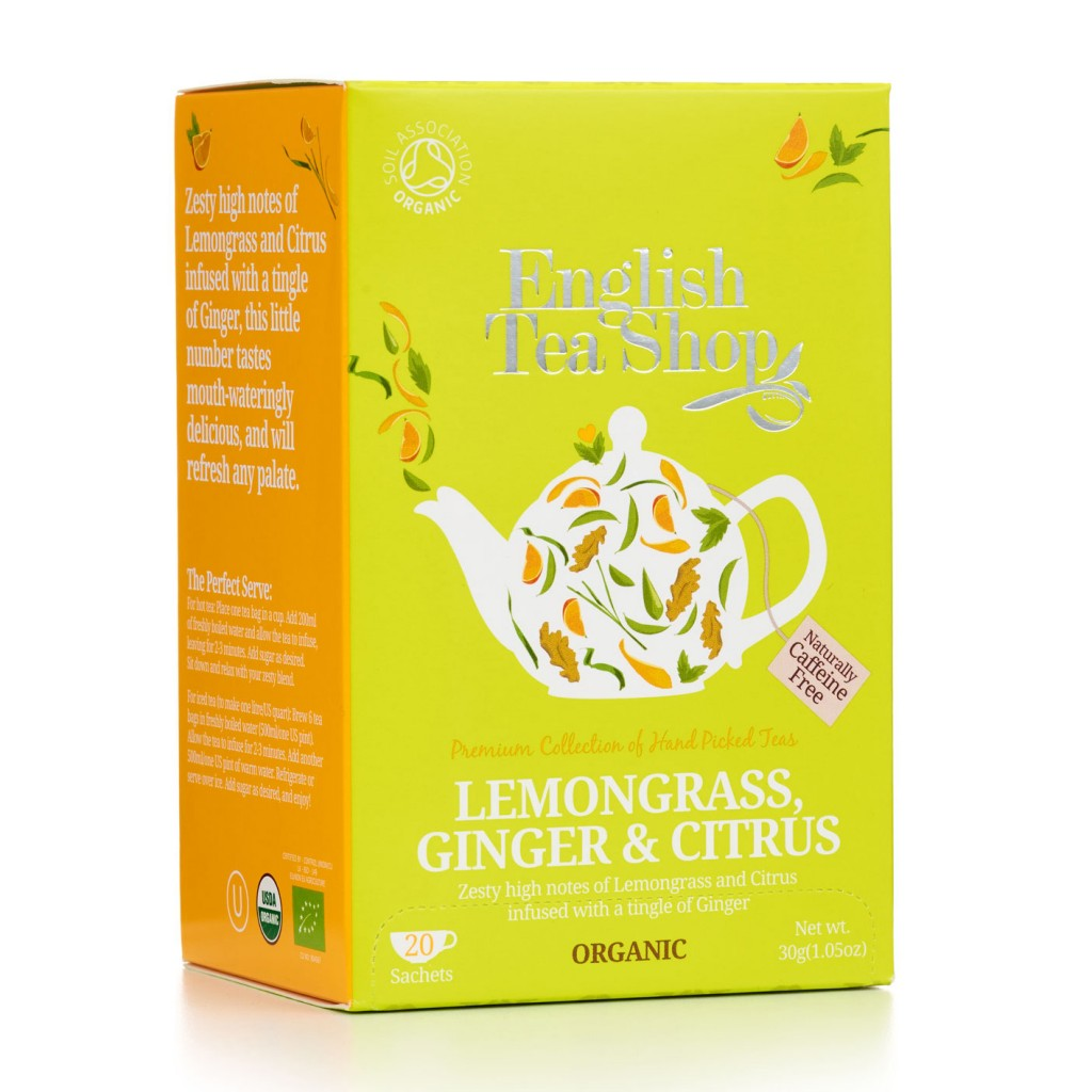 ENGLISH TEA SHOP Lemongrass, Ginger & Citrus Envelope Tea Bags